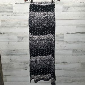 Paisley print maxi skirt with side slits